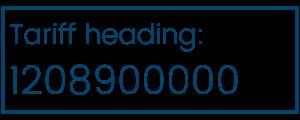 Tariff heading 1208900000